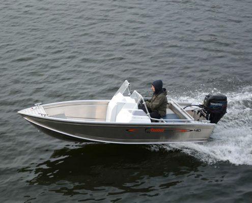 Ums 410 dc, länge 4.1 meter, breite: 1,7 meter, gewicht: ab 180 kg, marine grade aluminium 5083, stärke: 3 mm