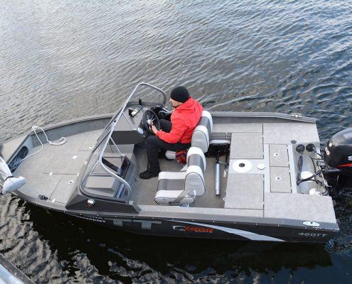 Ums 460 tt, Angelboot, länge 5.6 meter, breite: 2.3 meter, gewicht: 650 kg, marine grade aluminium 5083, stärke: 4 mm max 5 personen