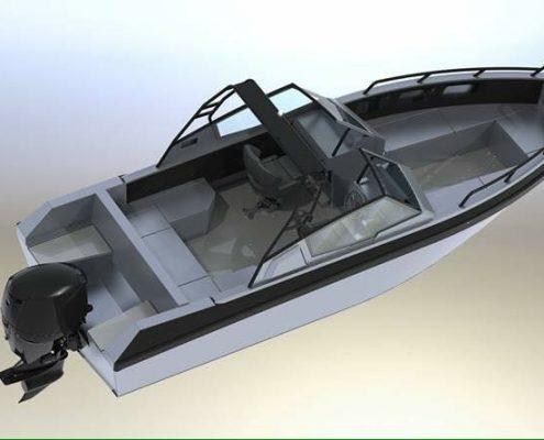 Ums 750 dc aluminium ahoi-boot grade aluminium 5083, stärke: 5 mm, CE Kategorie C, Max 8 Personen