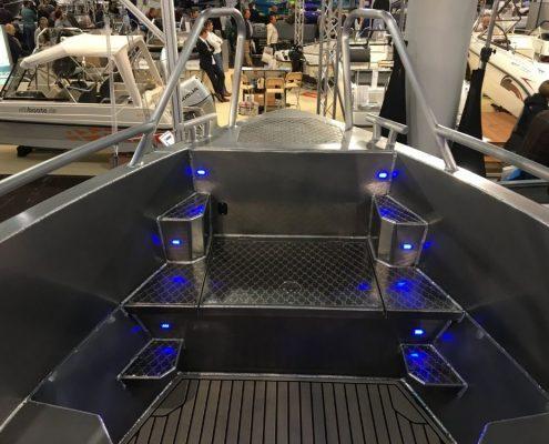 Marine Grade Aluminium 5083, Stärke 5 mm, CE Kategorie C, max 10 Personen